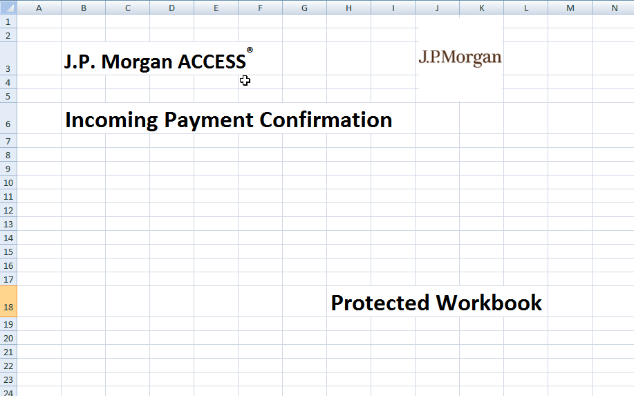 JP Morgan template used by document downloaders