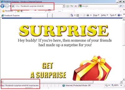 how to send a exe through facebook