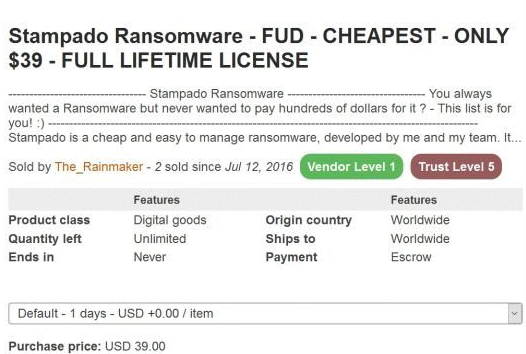 A Look at Recent Stampado Ransomware Variant | Zscaler Blog