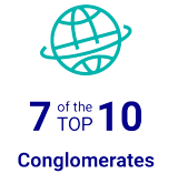 7 of the TOP 10 Conglomorates