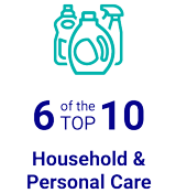 6 of the TOP 10 Household & Personal Care