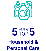 5 of the TOP 5 Household & Personal Care