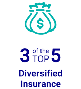 3 of the TOP 5 Diversified Insurance